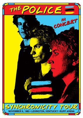 police concert posters | ... 1983 Lexington Kentucky...