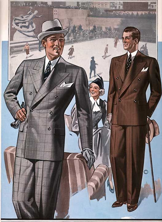 Gentlemen,au risque (assumé) de me répéter, je trouve que les années 30 sont définitivement (au moins pour nos contemporains chercheurs en style) les années les plus inspirantes en matière d'élégance masculine. Les sublimes catalogues de l'époque en témoignent sans équivoque.Ce catalogue 'Automne-Hiver' de 1937 de la maison 'Chicago Woolen Mills Co' est un pur régal et une source d'inspiration quasi inépuisable. En tous cas chez PG on ne s'en lasse pas...Isn&#3...