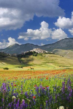 Castelluccio di Norcia, Italy by teegee24