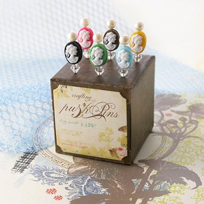 Websters Pages Cameo Push Pins Love these push pins from Websters Pages