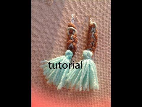 Paracord crochet earrings with tassels tutorial-Σκουλαρίκια πλεχτά από σχοινί με κρόσια