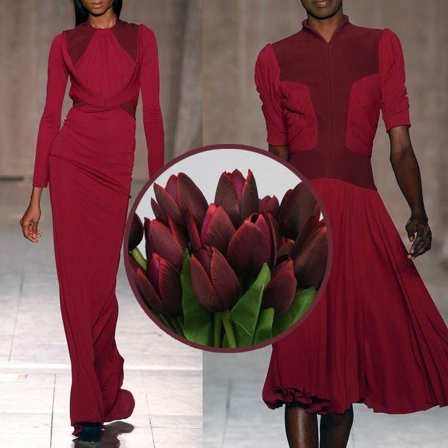 бордовое платье Зак Позен