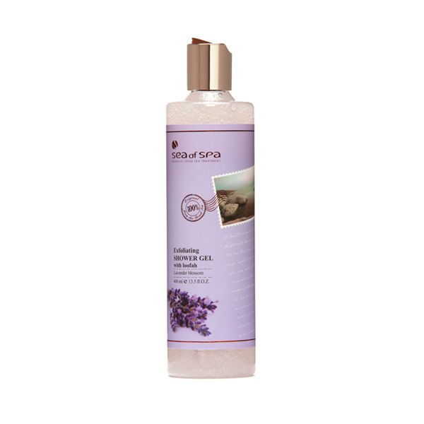 All Natural Ingredient Exfoliating Shower Gel Lavender Blossom Sea Of Spa 400ml #SeaOfSpa