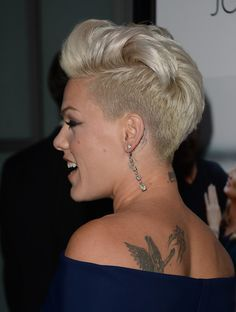 pink hairstyles from the back | Pink attends the premiere of Roadside Attractions' 'Thanks For Sharing ...