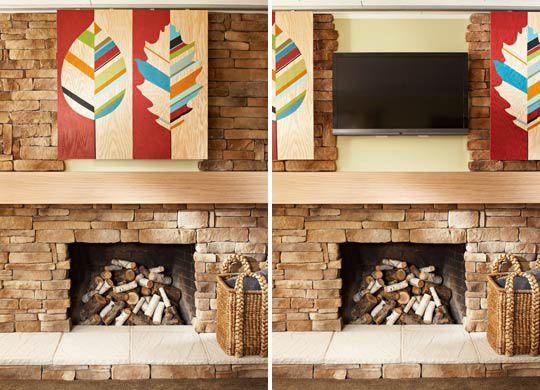 TV/Fireplace idea