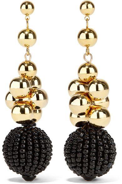 Etro | Gold-tone beaded earrings | NET-A-PORTER.COM