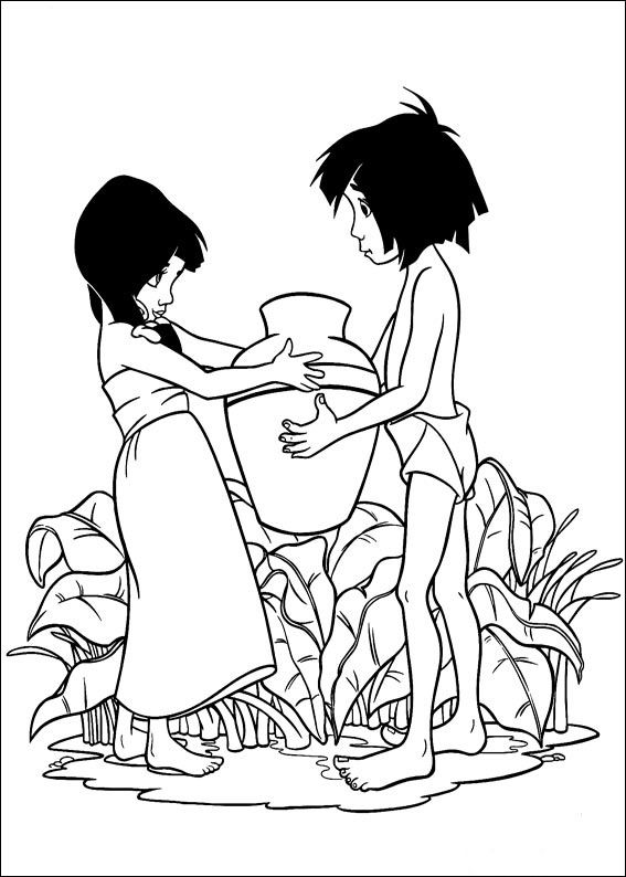 102 best jungle book images on pinterest | coloring books, disney ... - Disney Jungle Book Coloring Pages