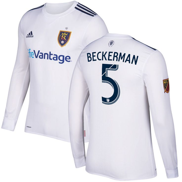 Kyle Beckerman Real Salt Lake adidas 2017 Secondary Authentic Long Sleeve Jersey - White