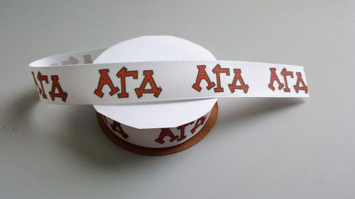 Alpha Gamma Delta Grosgrain Ribbon Official Licensed Product