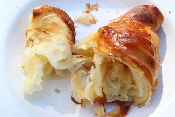 Home-made croissants. Really worth that extra time to make something so melt-in-the-mouth delicious. Recipe on the blog.