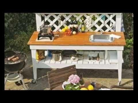 Летняя кухня своими руками Передвижная мини кухня своими руками - YouTube