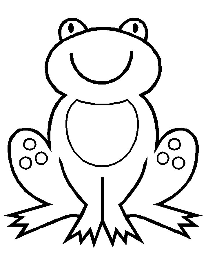 frog preschool coloring pages animals