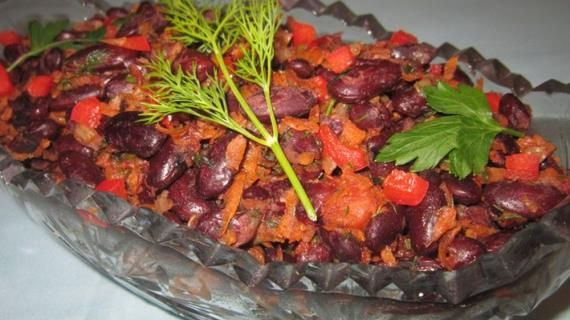 Овощной салат с красной фасолью. Пошаговый рецепт с фото, удобный поиск рецептов на Gastronom.ru