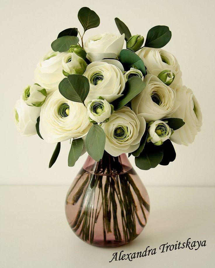 Букет с лютиками) еще будет 2 вида цветов), #фоамиран, #фом ,#fom , #foamiran , #ревелюр, #лютики, #ранункулюсы, #цветыизфоамирана