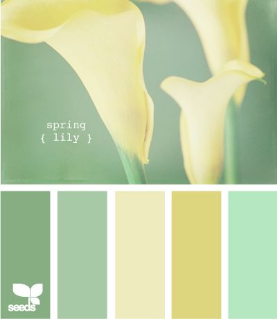 Spring Lily - color palette inspiration for Easter crochet, gorgeous.