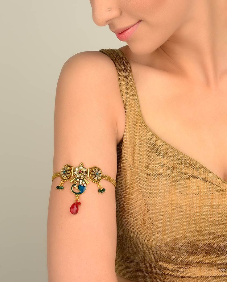 Embellished Peacock Baju Band - Exclusively In