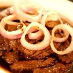 Bistek Tagalog Recipe, If cuisines of other countries have their own versions of beef steaks, so is Philippines has its own version called Bistek Tagalog. Filipino Bistek Tagalog is made up of thin slices of beef cooked in soy sauce, garlic, salt, pepper,...