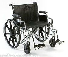 """Sentra EC Bariatric Self propel Wheelchair 22"""" seat Heavy duty STD22ECDDA-SF"""