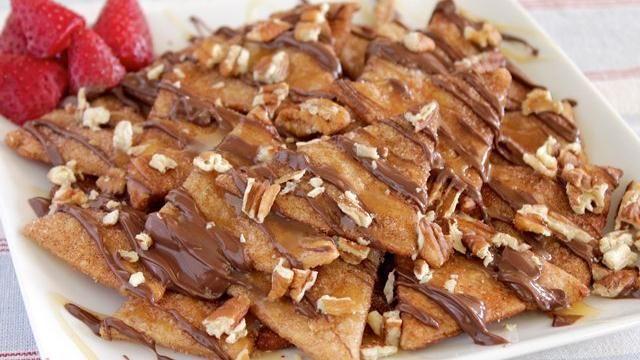 Pie Crust Dessert Nachos:  Hens Of The Woods, Fun Recipe, Crusts Desserts, Pies Crusts, Desserts Nachos,  Polyporus Frondosus, Pie Crusts, Dessert Nachos,  Grifola Frondosa