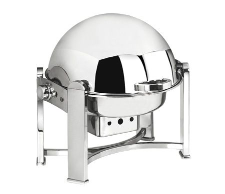 Round chafing dish, contemporary