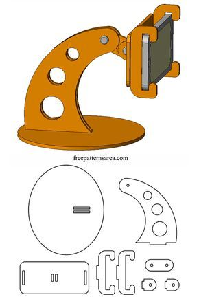 Laser Cut DIY Wooden Cell Phone Stand Plan