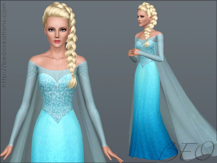 Frozen Dress And Tail By BEO Pay