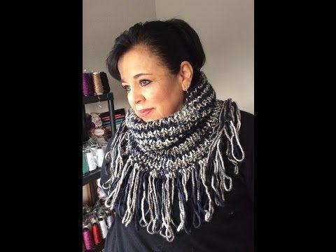 Col tendance tricot toutes tailles / Cuello tejido en dos agujas todas tallas - YouTube