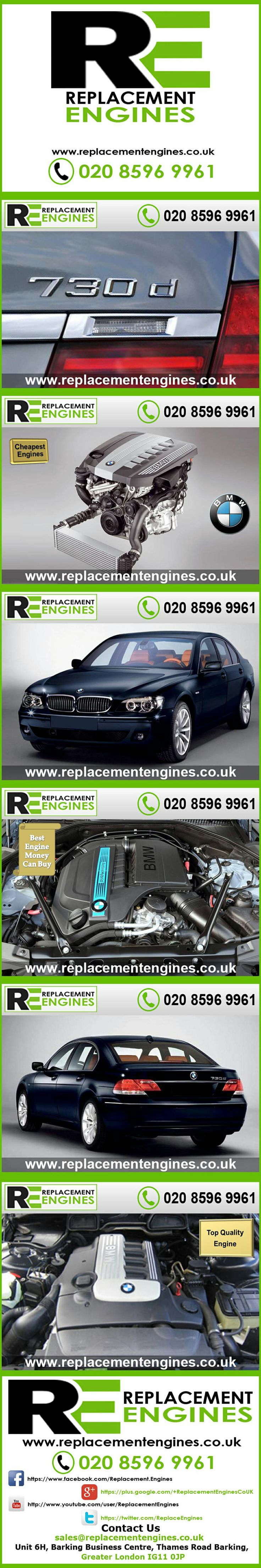 BMW 730d Engines for sale at the cheapest prices, we have low mileage used & reconditioned engines in stock now, ready to be delivered to anywhere in the UK or overseas, visit Replacement Engines website here.  http://www.replacementengines.co.uk/car-md.asp?part=all-bmw-730ddiesel-engine&mo_id=31176