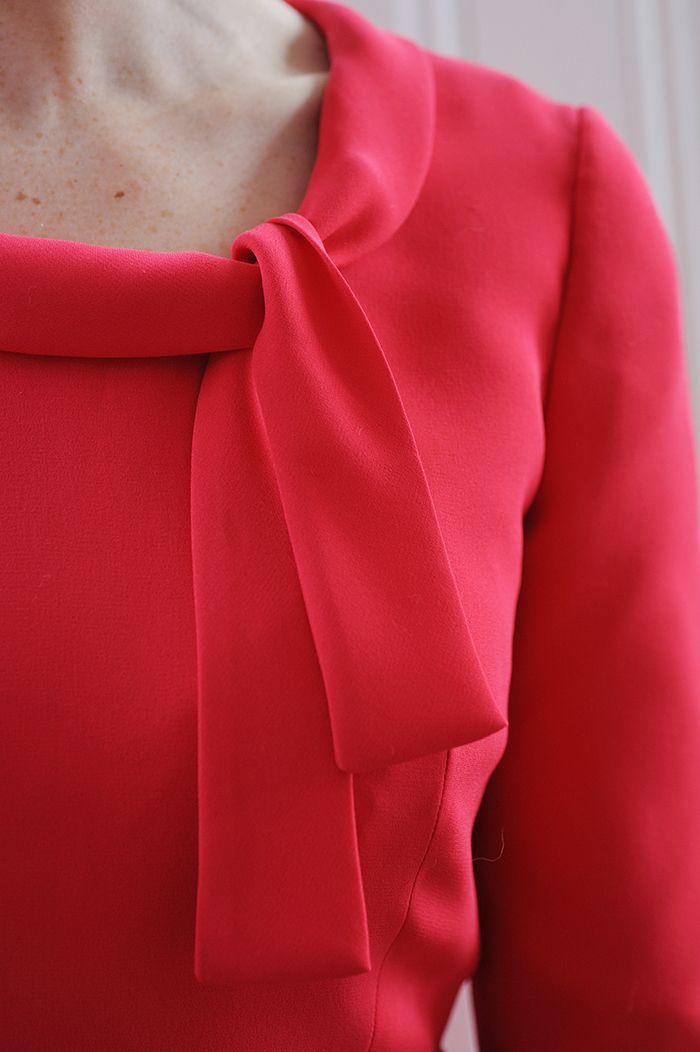 Sew Over It Mad Men Joan Dress - made in crepe the tie collar hangs beautifully.