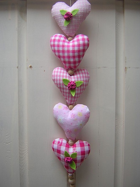 Cotton & Bead Hearts