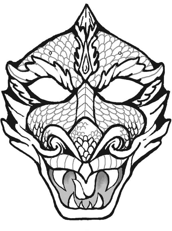 Coloring Dragon Masks Pages 2020 Dragon Face Dragon Mask