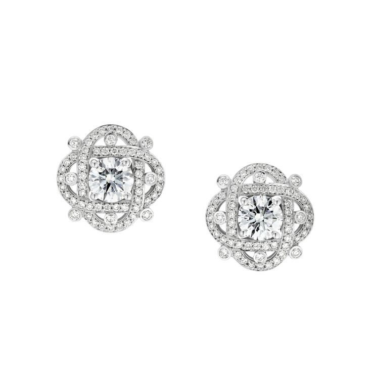 Fabergé Xenia Diamond Earrings #Fabergé #diamond #earrings