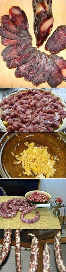 Домашняя вяленая колбаса