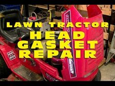 Lawn Tractor Head Gasket Replacement OHV - YouTube