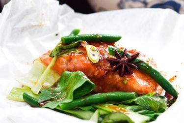 Asian salmon parcels