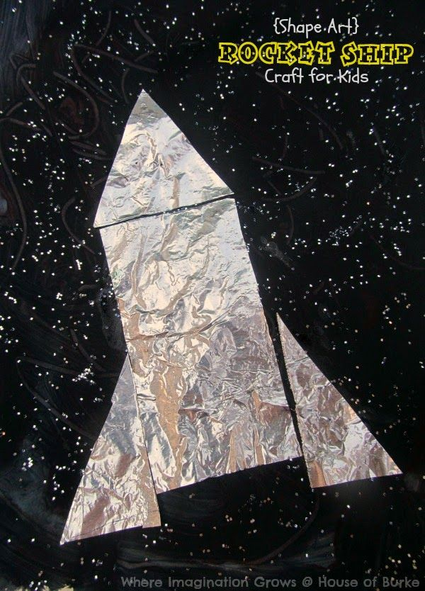 Rocket Ship Shape Craft for Kids from Where Imagination Grows for House of Burke