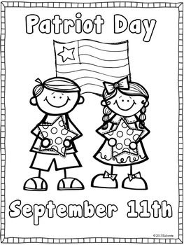 PATRIOT DAY COLORING AND WRITING PAGE {FREEBIE} - TeachersPayTeachers.com