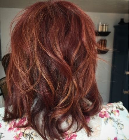 Hairtwist- mahogany red hair with highlights
