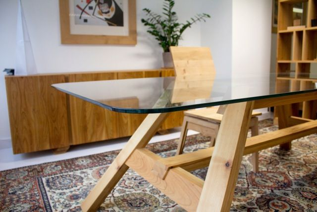 table cherry and glas by mazzivo furniture design