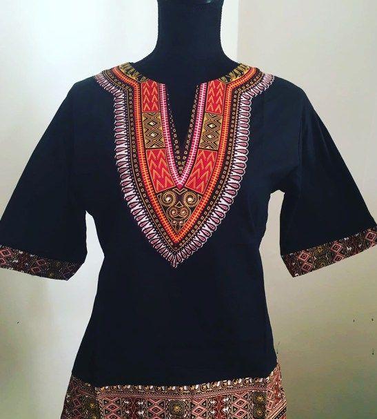 Black African dashiki shirt
