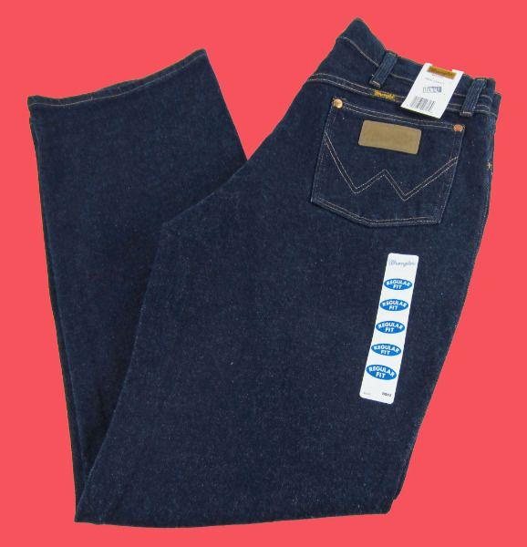 Mens Wrangler Western Stretch Regular Fit Cowboy Cut Dark Jeans 947STR Any Size