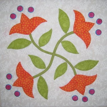 Tattered Garden Quilting: Leaders & Enders - Florabunda Block Five