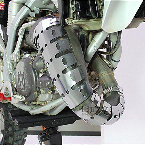 Universal Motorcycle Exhaust Muffler Pipe Heat Shield Cover Guard https://www.amazon.co.uk/dp/B06XGQMSP1?th=1