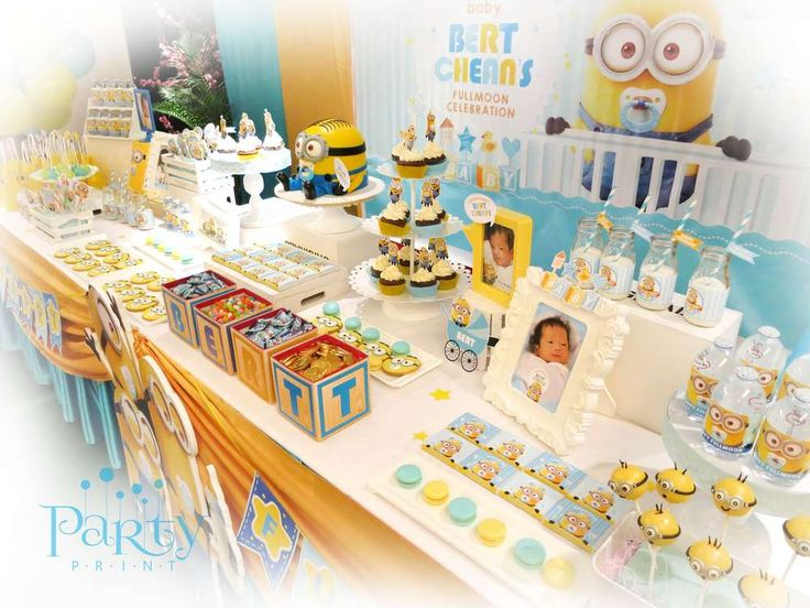 despicable me minions baby shower party ideas