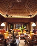 Traditional Furniture, Light Floor & Recessed Lighting in Living Room Color Theme with Tropical Style - Area Rug,  Coffee Table,  Couch,  Chair &  Rectangular Table