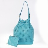Cheap Fashion Louis Vuitton Cruise Collection 2012 Perforated Genuine Calfskin Leather Noe - Sky Blue M94074 Replica