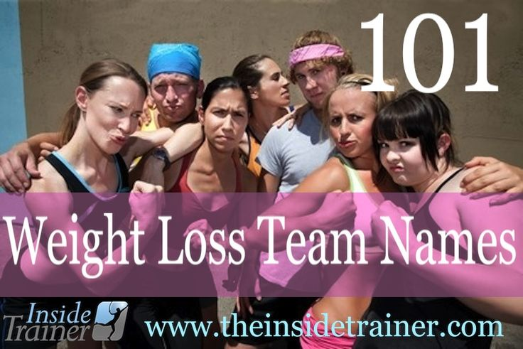 Coming up with a name for your team can a challenge.   Here is a list you can use for your Biggest Loser Competition... names like Skinny-Minnies & Flab-u-less will keep the competition light hearted.