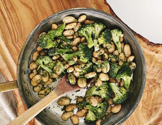 Lovely Butter Beans, Broccoli with Pesto recipe full of proteins and calcium. Ypu can serve it as a main dish with some black rice or as a side dish.