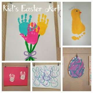 Preschool Crafts for Kids*: 14 Cute Easter Hand Print/Footprint Crafts for Kids