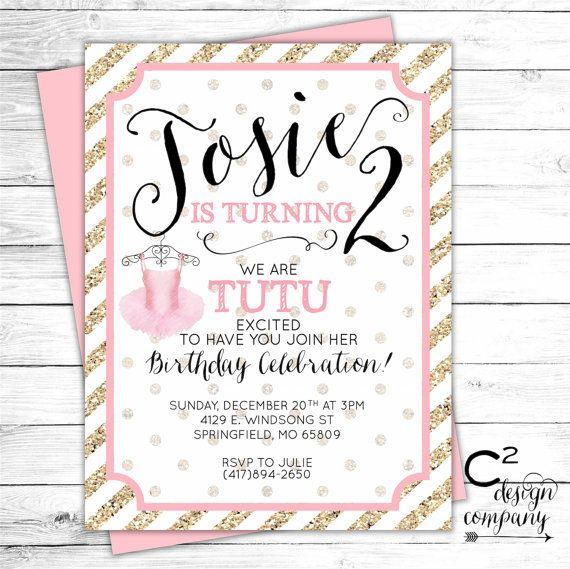 331 best birthday party ideas images on pinterest birthdays tutu cute birthday party invitation stopboris Image collections